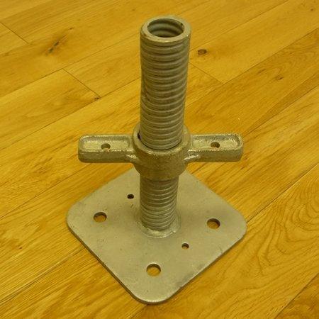 A single adjustable base plate