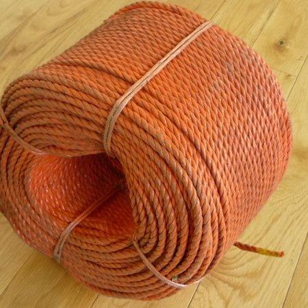 A Wheel of Orange 6mm Polypropylene Rope