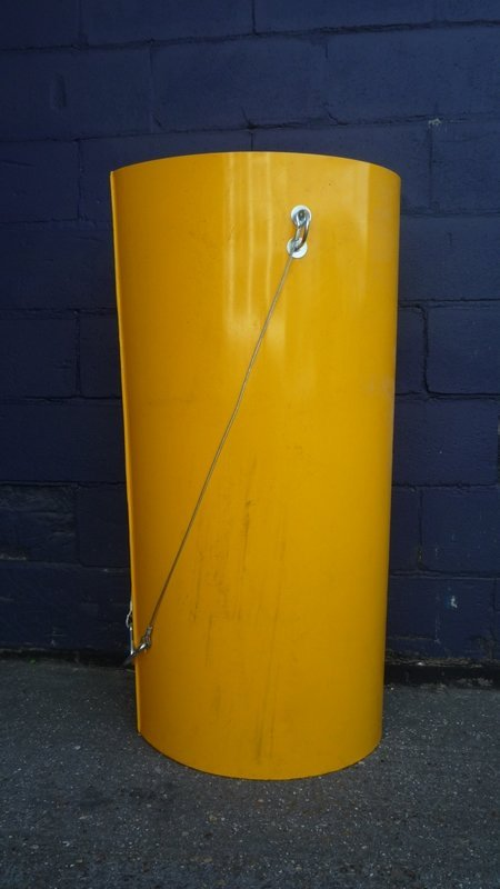 A 1m plastic rubbish chute section in yellow