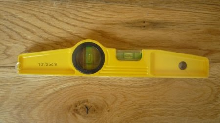 cheap spirit level on a table