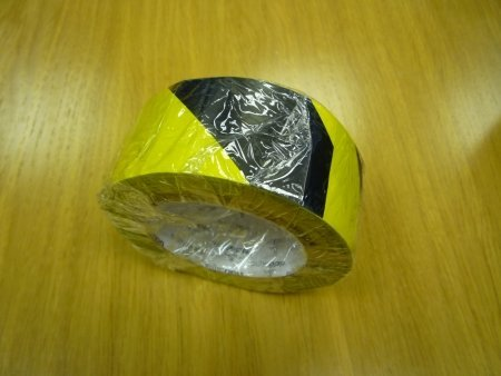 Black and Yellow Hazard tape for sale at gilray plant
