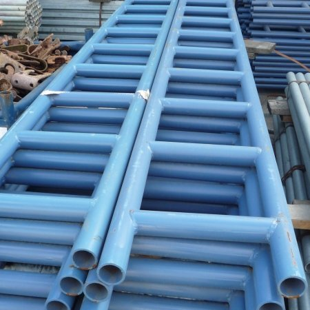 Steel Scaffold Ladder Beams painted blue