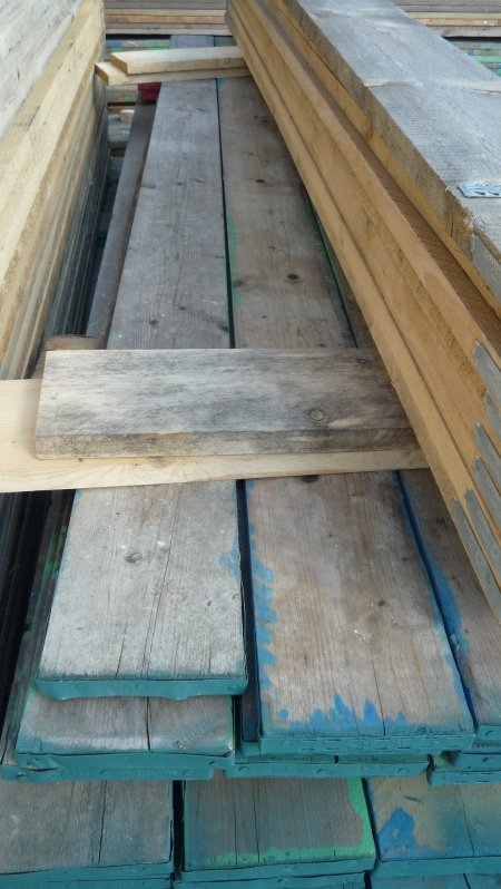 Used scaffold boards
