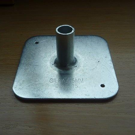 A heavy duty metal base plate