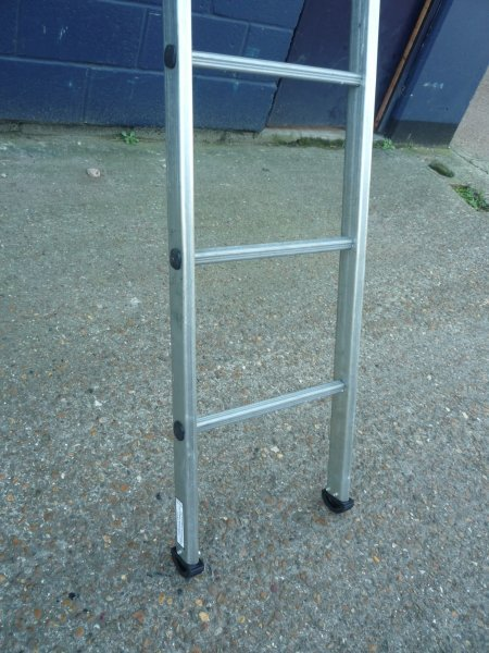Galvanised steel ladders for sale at gilray plant