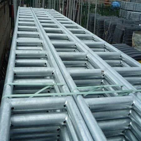 Galvanised steel Ladder Beams for sale at gilray plant
