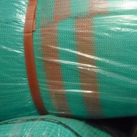 Green Fire Retardant Debris Netting in a roll
